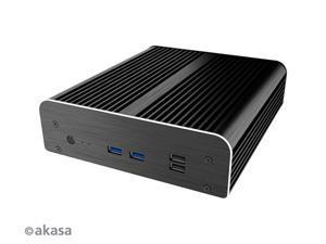 AKASA Newton S7D Fanless case for 7th Generation Intel® NUC boards (Dawson Canyon) - A-NUC38-M1B