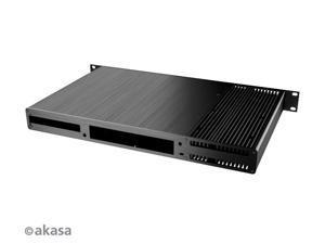 AKASA Galileo TU1 1U Rackmount fanless Thin mini-ITX case (A-ITX27-M1B)