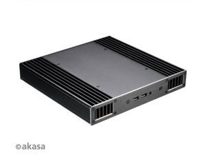 "Akasa Plato X8 | Intel 8th Gen NUC (Bean Canyon) | 38.5mm high | PC Fanless Case | Aluminium | VESA | IR | microphone | Heatsink | CPU cooling | UCFF | 2.5"" SSD HDD 