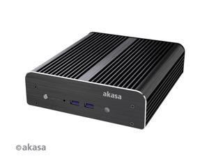 "Akasa Newton S Fanless case for 5th Gen Intel NUC board, 2.5"" SATA HDD/SSD inc VESA mount, USB 3.0 (A-NUC15-M1B)"