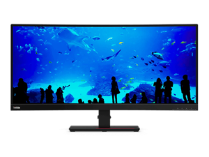 Lenovo ThinkVision T34w-20 34-inch Curved 21:9 Ultrawide Monitor with USB Type-C