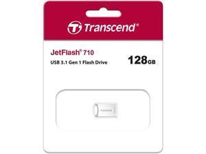 Transcend TS128GJF710S MAH 128GB USB 3.1 Gen 1 Flash Drive Transcend JetFlash 710 Silver Rectangular Retail