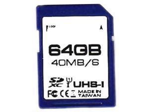 Delkin SD266-64GB-B CVK 64GB 9p SDXC r40MB/s w20MB/s Class 10 UHS-I U1 Secure Digital Extended Capacity Card Bulk