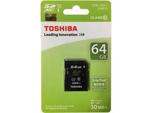 Toshiba SD-K064GR7AR30 CVK 64GB 9p SDXC r30MB/s w12MB/s Class 10 UHS-1 U1 Secure Digital Extended Capacity Card Retail