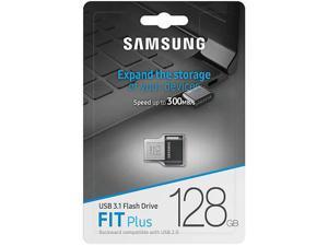 Samsung MUF-128AB/EU MAH 128GB USB 3.1 Flash Drive r300MB/s Samsung Fit Plus Black/Silver w/o Cap Retail