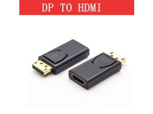 Black Display Port DP Male To HDMI Female Converter Cable Adapter Video Audio connector for HDTV PC Application in Multimedia