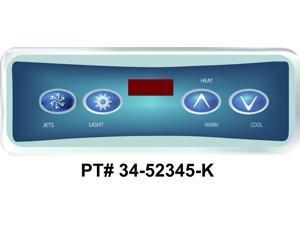 Balboa Control Panel, Duplex Digital, 4 Button, VL403 LED - 52345