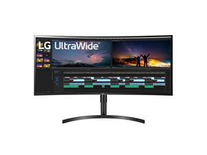 LG 38WN75C-B 38-Inch Class 21:9 Curved UltraWide QHD+ (3840 x 1600) IPS Display with HDR 10 and Tilt/Height Adjustable Stand, Black
