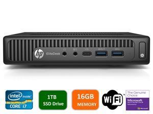 HP EliteDesk 800 G2 Mini Business Desktop PC Intel Quad-Core i7-6700T up to 3.1G,16GB DDR4,1000GB(1TB) SSD,VGA,DP Port,Windows 10 Professional 64 Bit-Multi-Language-English/Spanish (Renewed)