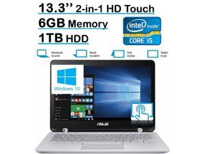 ASUS Q304UA 13.3-inch 2-in-1 Touchscreen Full HD Laptop PC (2016 Edition, 6th Intel Core i5-6200U up to 2.8GHz, 6GB RAM, 1TB HDD) Silver (795962000000)