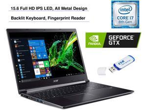 "2020 Acer Aspire 7 15.6"" FHD Display Laptop Computer, Intel Core i7-9750H, GeForce GTX 1050 3GB, 32GB RAM, 2TB HDD + 2TB SSD, Backlit Keyboard, Fingerprint Reader, Windo (Aspire 7)"