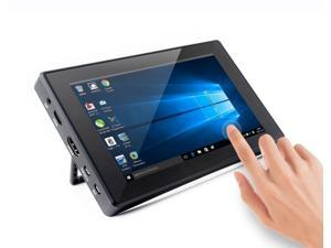waveshare 7inch HDMI LCD (H) (with case) 1024x600 Resolution Monitor IPS Capacitive Touch Screen with Toughened Glass Cover Supports Multi Mini PC Raspberry Pi BB Black Banana Pi