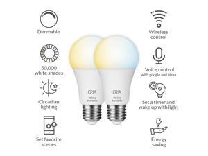 AduroSmart ERIA Tunable White Smart Light Bulb A19 (hub required) Tunable White 2700-6500K Dimmable, works with Alexa/ Echo Plus/ Eria / Hue / Google Assistant
