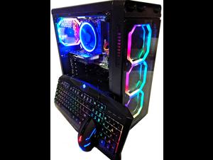 Cobratype HYDRA Core i7 Gaming Desktop PC, GeForce RTX 2070, 16GB RAM, SSD, Windows 10, Wi-Fi, CUSTOM RGB LIGHTING, RGB keyboard/mouse included