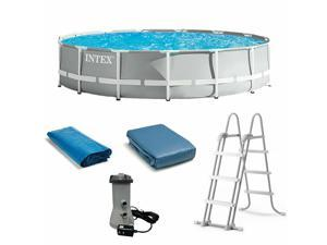 [Out of stock,this price protection link]NEW Intex 26723EH 15ft x 42in Prism Frame Swimming Pool w/ Pump + Ladder + Cover