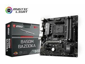 MSI Arsenal AMD Ryzen 1st & 2nd Gen AM4 DDR4 Micro-ATX Motherboard B450M Bazooka OpenBox