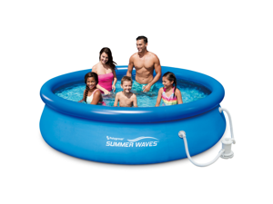 """[US inventory]Summer Waves 10'x30""""Quick Set Inflatable Ring Above Ground Pool w/ Filter Pump - KSIMALL: Out of stock"""