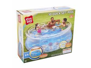 Play Day 8ft 3D Transparent Quick Set Pool 2 Pairs of 3D Goggles Included