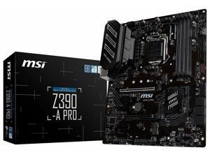 MSI Z390-A PRO LGA1151 (Intel 8th and 9th Gen) DDR4, Gigabit LAN ATX Motherboard