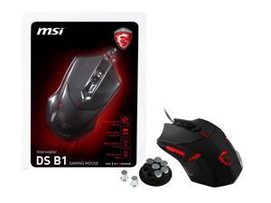 MSI Interceptor DS B1 Wired GAMING Mouse, Red Backlight, Weight Adjustable
