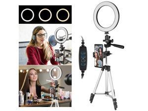 Dimmable LED Ring Light Lamp w/Tripod Stand For Phone Selfie Camera Studio Video
