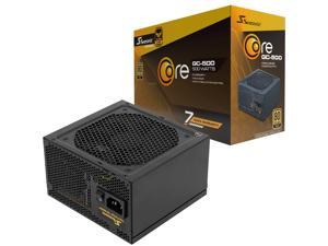 Seasonic Core GC-500,500W 80 Gold,Direct Output, Smart & Silent Fan Control,140MM Compact Size, Silent Temperature Control, Perfect Power Supply for Gaming and Various Application, SSR-500LC