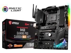 MSI B450 GAMING PRO CARBON MAX WIFI AM4 AMD B450 USB3.2 Gen2 ATX Motherboard