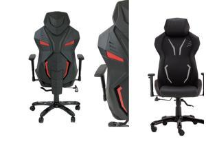 ViscoLogic PANTHER Gaming Chair Racing Entertainment Video Game Chair Ergonomic Backrest and Seat Height Adjustment Computer Chair with Pillows Recliner Swivel Rocker Headrest and Lumbar Tilt E-Sports