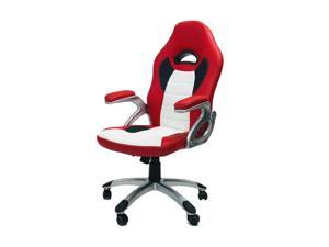 ViscoLogic THRILL Ergonomic Gaming Style Office Chair - Red & White