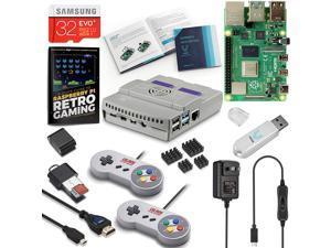Vilros Raspberry Pi 4 SNES Style Retro Gaming Kit-Includes 2 SNES Style Gamepads and SNES Style Case (4GB RAM)