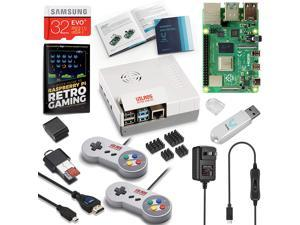 Vilros Raspberry Pi 4 Retro Gaming Kit with SNES Style Controllers and NES Style Case (2GB RAM)