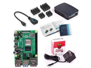 Vilros Raspberry Pi 4 Model B Basic Starter Kit with Official Black/Grey Raspberry Pi Case (4GB RAM)