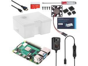 Vilros Raspberry Pi 4 Use and Store Starter Kit (8GB, Opaque Clear Case)
