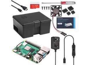 Vilros Raspberry Pi 4 Use and Store Starter Kit (8GB, Black Case)