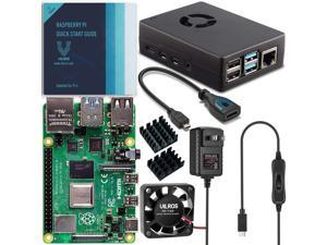 Vilros Raspberry Pi 4 Basic Starter Kit with Fan-Cooled Heavy-Duty Aluminum Alloy Case (8GB RAM)