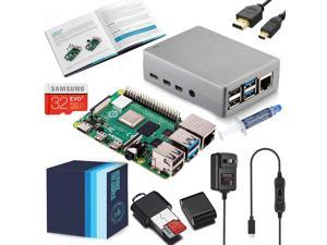 Vilros Raspberry Pi 4 Complete Starter Kit with Silver Heavy-Duty Self Cooling Aluminum Alloy Case (4GB RAM)