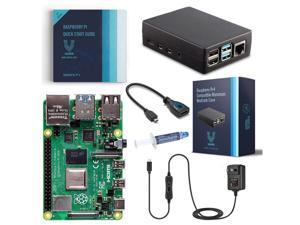 Vilros Raspberry Pi 4-8GB RAM-Basic Starter Kit with Heavy Duty Self Cooling Aluminum Alloy Case