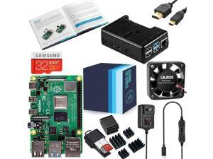 Vilros Raspberry Pi 4 Complete Kit with Black Fan Cooled Case (8GB)