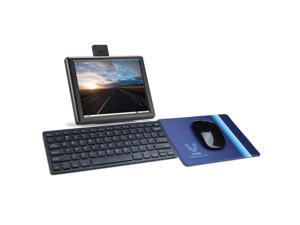 Vilros Raspberry Pi 4 Desktop Set with 8 Inch Screen and Keyboard and Mouse Set (4GB RAM)