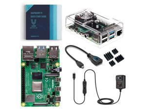 Vilros Raspberry Pi 4 Model B Basic Starter Kit with Fan Cooled Clear ABS Case (8GB RAM)