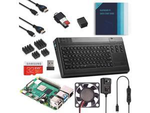 Vilros Raspberry Pi 4 Complete Desktop Kit with Keyboard and Touchpad Hub Case (4GB RAM)
