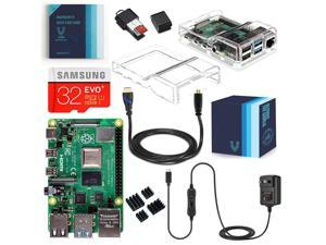 Vilros Raspberry Pi 4 Model B Complete Starter Kit with Dual Clear Transparent Case (8GB RAM)