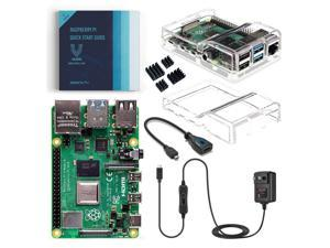 Vilros Raspberry Pi 4 Basic Kit with Dual Cover Clear Case (8GB)