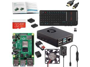 Vilros Raspberry PI 4 Model B Complete Desktop Kit with Mini Keyboard and Touchpad Combo (4GB)