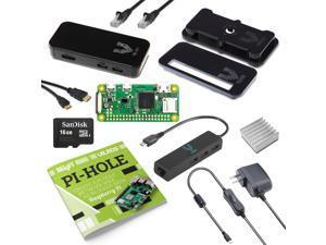 Vilros Raspberry Pi Zero W Network Wide Ad Blocking Kit (Black Case)
