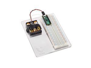 Breadboard and Battery Holder Panel for Raspberry Pi Pico (FULL SIZE BREADBOARD - 800 HOLE)