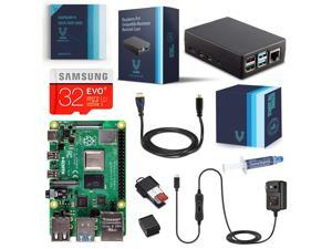 Vilros Raspberry Pi 4-2GB RAM- Complete Starter Kit with Heavy-Duty Self Cooling Aluminum Alloy Case
