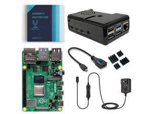 Vilros Raspberry Pi 4 Model B Basic Starter Kit with Fan Cooled Black Case (2GB)