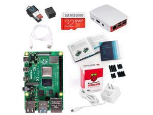 Vilros Raspberry Pi 4 Model B 4 GB Complete Starter Kit with Official Raspberry Pi Case (Red/White)