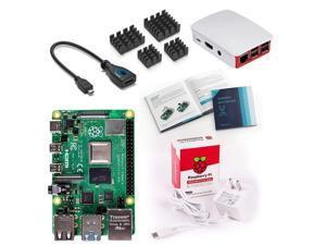 Vilros Raspberry Pi 4 Basic Starter Kit with Official Case (Red/White) (4GB)
